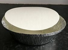 50 Round Silver Aluminium Foil Containers & Lids Size12 Takeaway Indian Chinese
