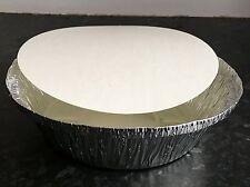 50 Dischi Argento Foglio Di Alluminio CONTENITORI & Coperchi Taglia 12 Take Away Cinese indiano