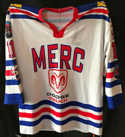 Original MANNHEIM MERC Spieltrikot Nr. 11 Gameworn Eishockey L Nachwuchsspieltri
