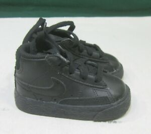 375492-001  Nike Blazer Mid Black/Black-Medium Grey Toddler Size 4 C