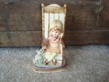 Holly Hobbie Figurine Amy In Chair With Cat American Greeting Corp. Japan