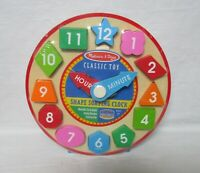 Melissa and Doug Wooden Shape Sorting Classic Clock NEW