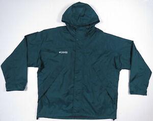 NWOT Columbia Hooded Waterproof Wind Rain Full Zip Mens Coat Jacket 2XL Tall