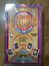 Upper deck 91-92 basketball factory sealed wax box inaugural edition Jordan PSA