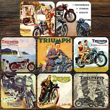 COASTER SET OF 8 - TRIUMPH MOTORCYCLES