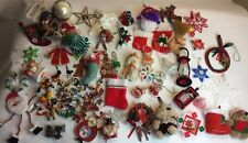 Huge 50+ MIXED LOT VINTAGE & MODERN CHRISTMAS ORNAMENTS - ESTATE FIND