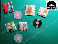 BRITNEY SPEARS. 3 Miniature music record vintage. Handmade, Scale 1/12.