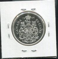 CANADA - FANTASTIC HISTORICAL QE II SILVER 50 CENTS, 1964