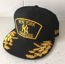 NEW YORK YANKEES Size 7 1/4 Black Army/Navy Hat 7 - New Era Baseball Cap