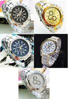 Men's Luxury Stylish Stainless Steel Analog Quartz Wrist Watch Assorted Colors