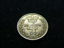 More details for silver queen victoria maundy four d groat 1839