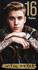 Justin Bieber Age 16 Birthday Card NEW
