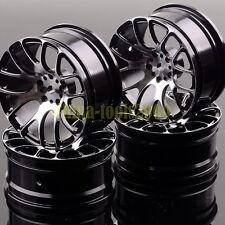 Aluminum 7Y Spoke Wheels/Rims1055 BLACK RC 1/10 On-Road Drift Sakura HSP Tamiya