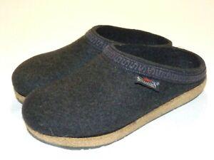 Women's Stegmann Comfort Wool Slip-On Clog Slippers / Shoes Dark Gray Size 8