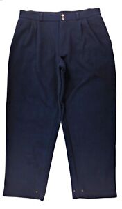 Zero Restriction Windstopper Micro Fleece Pants Mens XL Pleated Navy Made In USA