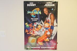 Original New Vintage Space Jam Movie Promotional Poster Michael Jordan DAMAGED!
