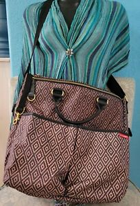 Skip Hop Duo Special Edition Luxe Diaper Bag Aztec Pottery Barn FREE SHIPPING