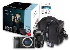 SONY Alpha 6000 schwarz + Sony 18-105 + Zubehörpaket: 16GB + Tasche + Zweitakku