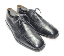 Mens Hand Crafted Johnston & Murphy Dress Shoes Size 9.5M US Black Leather