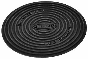 STELLAR 13cm Silicone Trivet Worktop & Non Stick Pan Protector. Two uses in one.