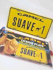 Joe Camel Suave 1 Vintage Metal License Plate Collect Advertisement Decor NOS