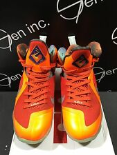 Authentic Nike Lebron 9 AS Big Bang All Star ASG Galaxy Orange 3M Size 9.5