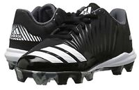 adidas Icon MD K Youth Baseball Cleats Shoes Black White Size 6 NEW!