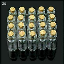 Al por mayor 100pcs 30 Ml 27x79mm pequeño vacío transparente de las botellas frascos Con Corcho
