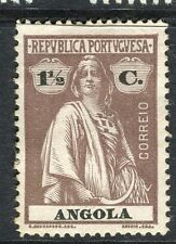 PORTUGUESE ANGOLA;  1914-20s early Ceres issue fine Mint hinged 1.5c. value