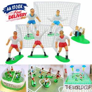 9 Soccer Players Toppers Cake Football Figure Birthday Decoration Cupcake AU