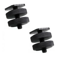 "Phot-R 2x 1/4""-20 Dual Nuts Tripod Mount Screw to Flash Camera Hot Shoe Adapter"