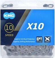 KMC X10 EPT Eco ProTeq 10-Speed Anti-Rust Bike Chain Road/MTB fits SRAM Shimano
