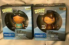 Funko Dorbz Lot! Disney! Aladdin: Abu #227 & Jasmine #226 Walmart Exclusive Nib