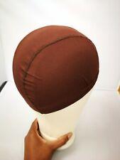 UK: Brown SPANDEX Dome WIG CAP.