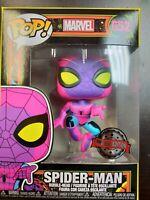 Funko Pop! Spiderman Black Light Target Exclusive in Hand MINT
