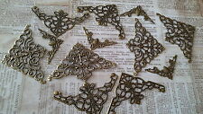 12 x FILIGREE CORNER MIX - BRONZE TONE - EMBELLISHMENT, SCRAPBOOKING, CARDMAKING