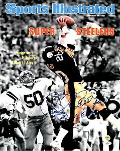Rocky Bleier Signed Autographed Pittsburgh Steelers SI 16x20 Photo Witnessed JSA