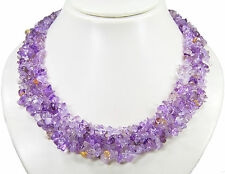 Beautiful Necklace from the Gemstone Ametrin multiple-row Strands