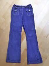 EUC Mini Boden Girls Velvet Bootleg Pants 11