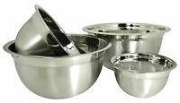 4 Stainless Steel Deep Euro Style Mixing Bowl Set-.75 ,1.5, 3 and 5 Qt Nesting