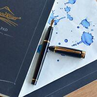 Aurora Ipsilon Black & Gold Fountain Pen