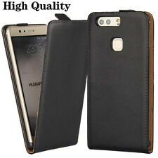 2017 New Genuine Leather Flip Black Case Cover For Various Mobile Phones