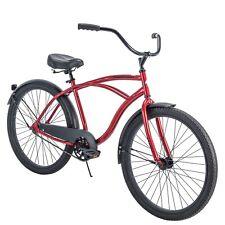 Men's Beach Cruiser Bike 26 Inch Perfect Fit Frame Aluminum Comfort Ride, Red