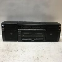 Vintage Sony CFS-W420 AM/FM Radio/Dual Cassette Boombox Tested for Repair/Parts