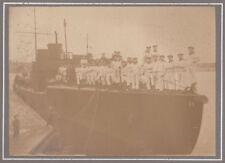 Pappfoto Matrosen Torpedoboot D9 Kriegsmarine 1 Wk WW1 !