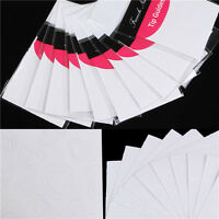 10Sheets Nail Art French Tips Manicure Edge Tip Guides Heart Design Decoration