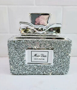 CRUSHED DIAMOND SILVER CRYSTAL STUNNING BOTTLE, SHELF SITTER!, SPARKLY GIFT ✨