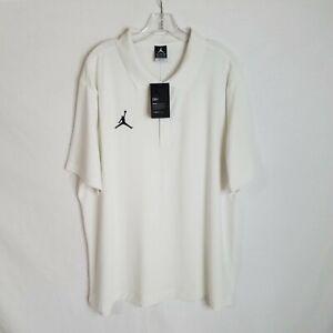 NEW Nike Air Jordan Dri-Fit White Polo Shirt CD2216-100 Mens Size 2XL NWT R103P