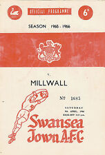 Swansea Town (now City ) v Milwall 9 Apr 1966  FOOTBALL PROGRAMME