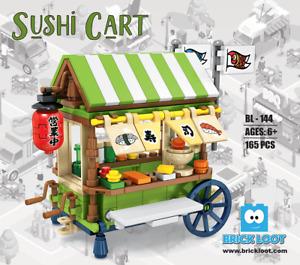 Brick Loot Sushi Cart Modular Building Brick Blocks Set Kit Model